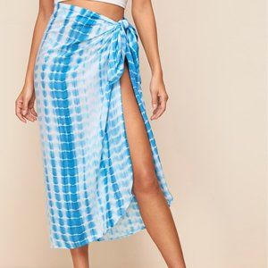 Other - Cover Up Skirt Knot Side Tie Dye Large New